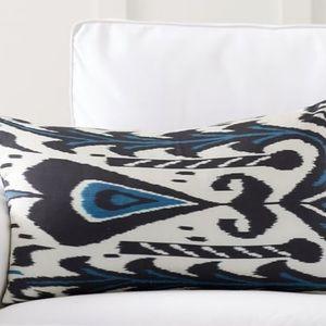 Pottery Barn Edith Ikat Silk Lumbar Pillow Cover